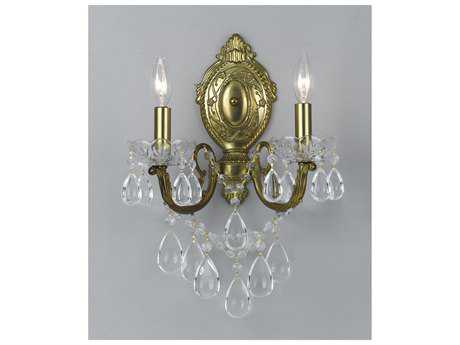 Classic Lighting Corporation Vienna Palace Renovation Brass Two-Light Wall Sconce C869802RNB