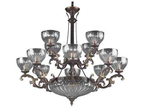 Classic Lighting Corporation Warsaw Roman Bronze 14-Light 34 Wide Grand Chandelier C855438RB