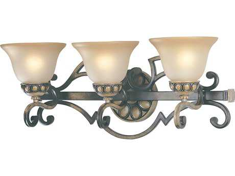 Classic Lighting Corporation Westchester Honey Rubbed Walnut Three-Light Vanity Light C892733HRW