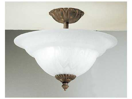 Classic Lighting Corporation Yorkshire Three-Light Semi-Flush Mount Light C868119EB
