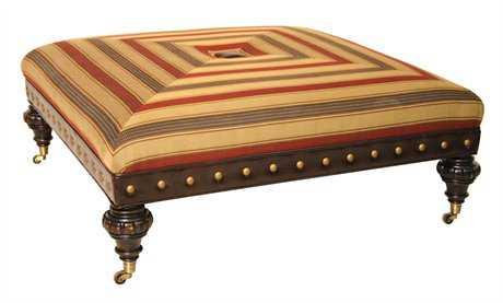 Classic Leather Abbott Ottoman