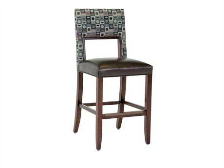 Classic Leather Bauer Armless Bar Stool