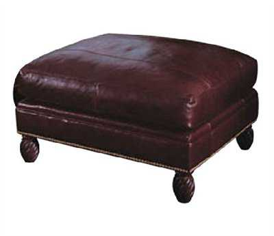 Classic Leather Bonaire Ottoman And One half