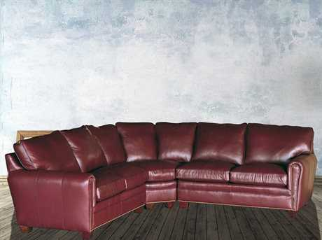 Classic Leather Bowden Sectional Sofa