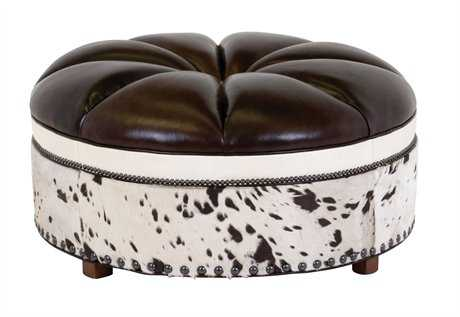 Classic Leather Candice Ottoman