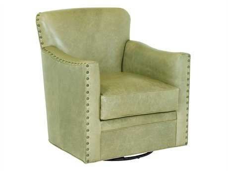 Classic Leather Card Room Swivel Club Chair
