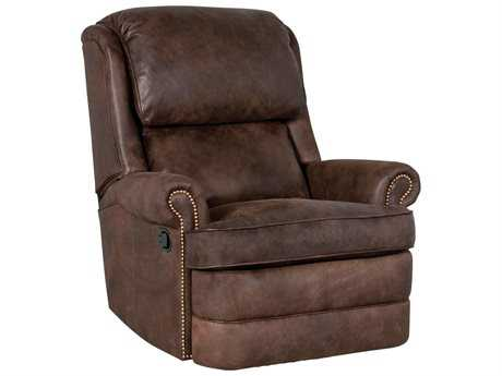 Classic Leather Chesapeake Box Cushion Recliner Chair