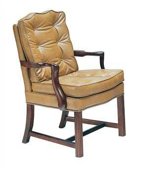 Classic Leather Chippendale Chair