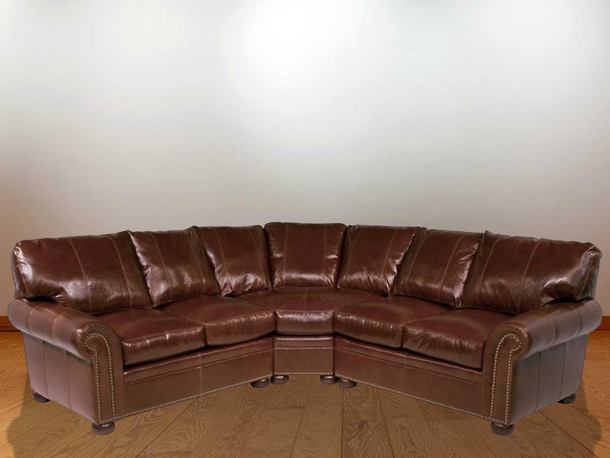 Magnificent Classic Leather Easton Sectional Sofa Creativecarmelina Interior Chair Design Creativecarmelinacom