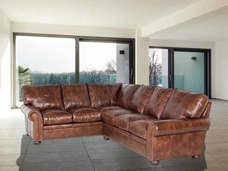 Classic Leather Easton Sectional Sofa