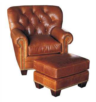 Classic Leather Fireside Tufted Back Club Chair CL117786