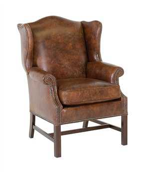 Classic Leather George III Wing Chair CL4662