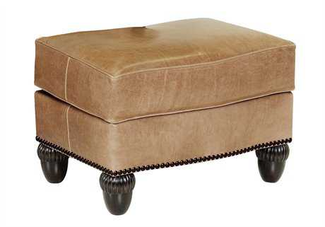 Classic Leather Gownsman Ottoman