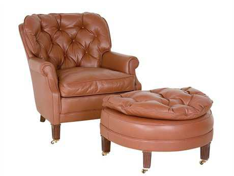Classic Leather Half Moon Living Room Chair CL133