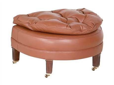 Classic Leather Half Moon Ottoman