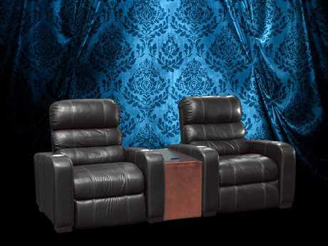 Classic Leather Home Theatre Theater Seating CL34436