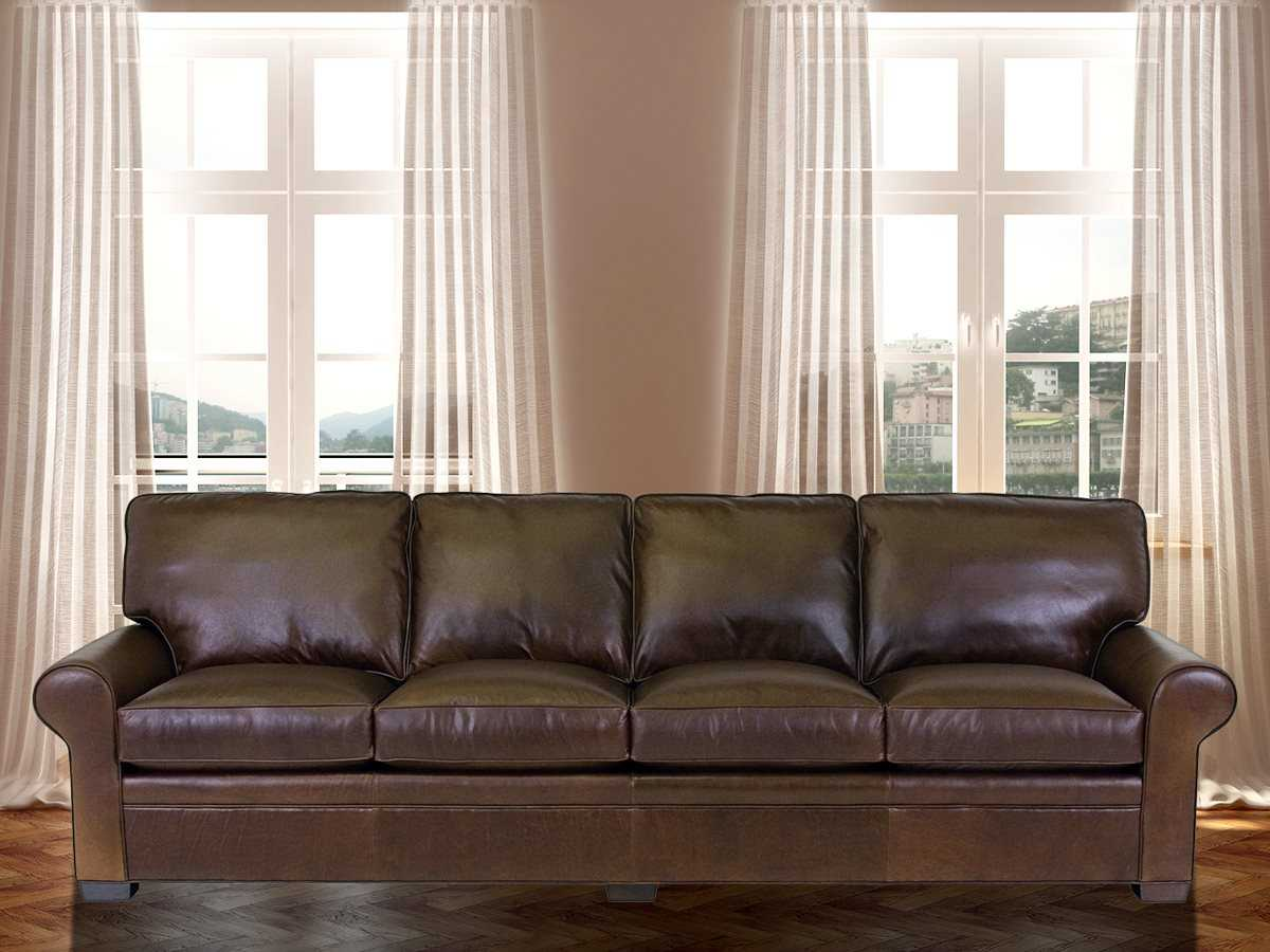 Clic Leather Library Sofa Cl11518115