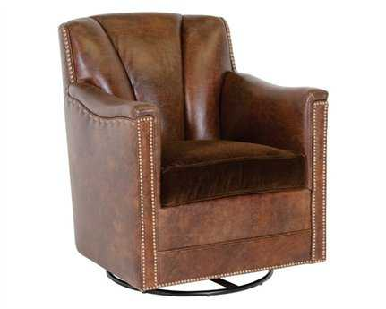 Classic Leather Lombard Swivel Glider Chair CL117766SG