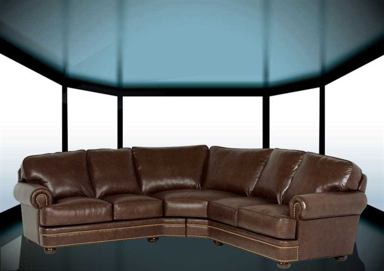 Classic Leather McGuire Sectional Sofa   CL34426