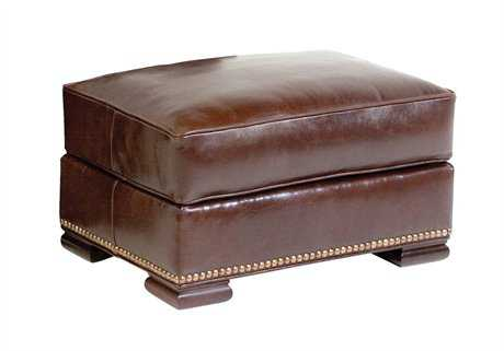 Classic Leather Meeting Street Ottoman CL3610