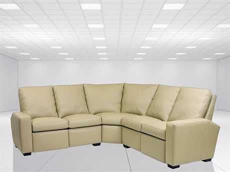 Classic Leather Metro Reclining Sectional Sofa