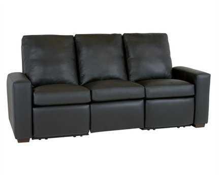 Classic Leather Metro Motorized Reclining Sofa