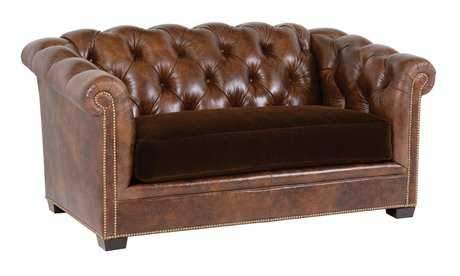 Classic Leather Montclair Tufted Loveseat