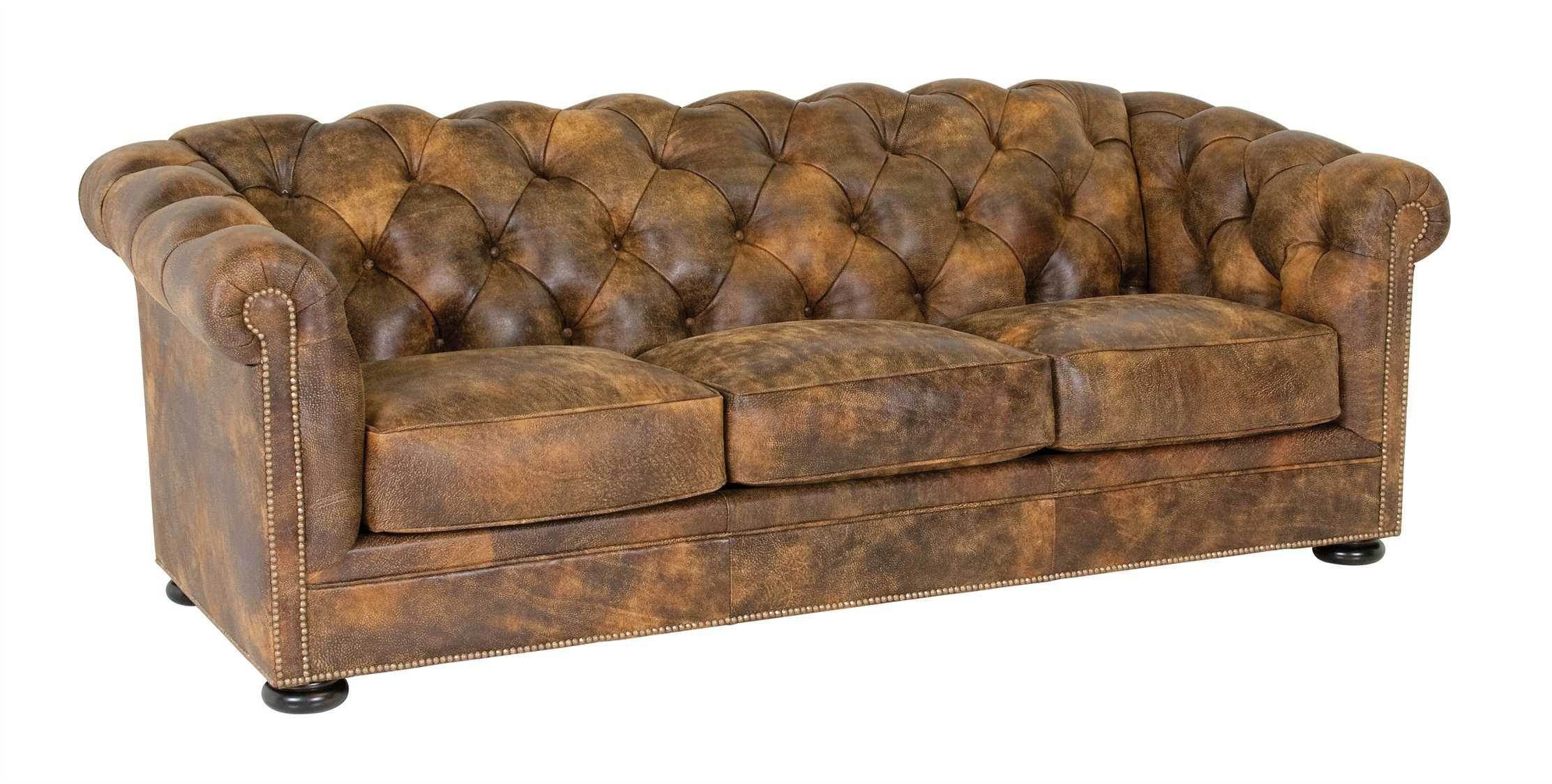 Classic Leather Montclair Tufted Sofa | CL1384