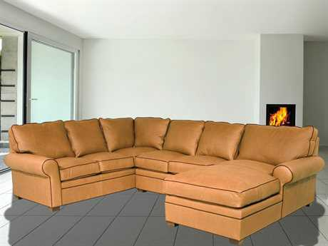 Classic Leather Morgan Sectional Sofa