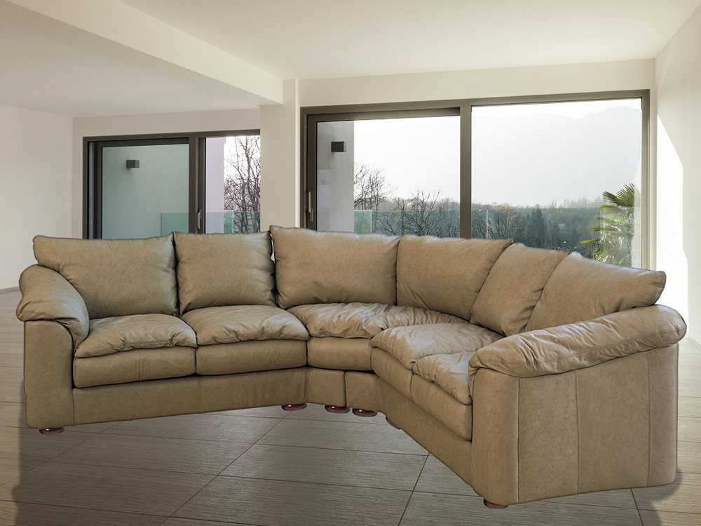 Classic Leather Oregon Sectional Sofa Cl34430