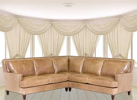Classic Leather Palermo Sectional Sofa