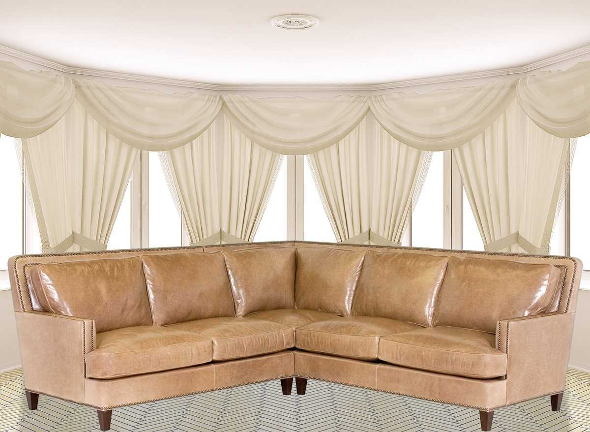 Classic Leather Palermo Sectional Sofa   CL34418