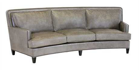 Classic Leather Palermo 112'' Curved Sofa CL8553