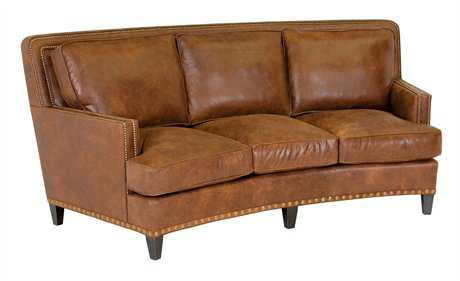 Classic Leather Palermo 90'' Curved Sofa