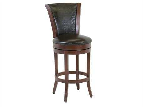 Classic Leather Parker Upholstered Back Bar Stool