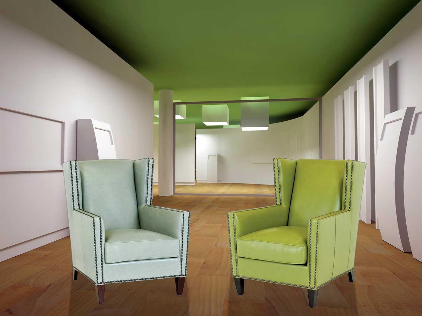 Classic Leather Porter Wing Chair Set Clportech