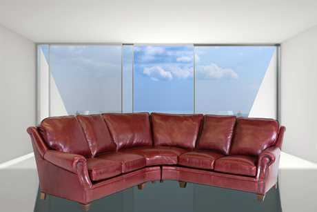 Classic Leather Portsmouth Sectional Sofa