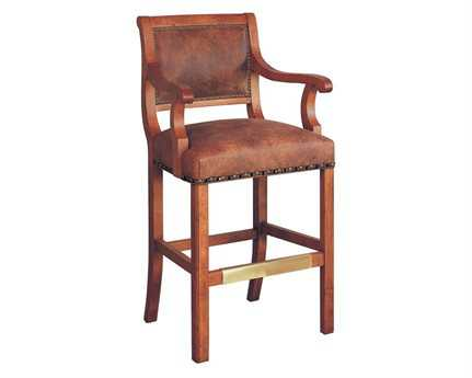 Classic Leather Regency Bar Stool