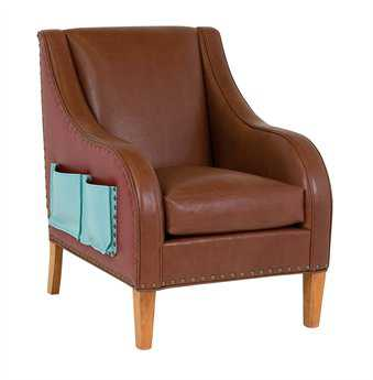 Classic Leather Tag Pause Chair