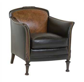 Classic Leather Card Room Club Chair Cl117796