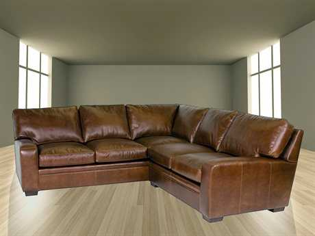 Classic Leather Vancouver Sectional Sofa