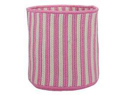 Baja Stripe Pink Round Basket