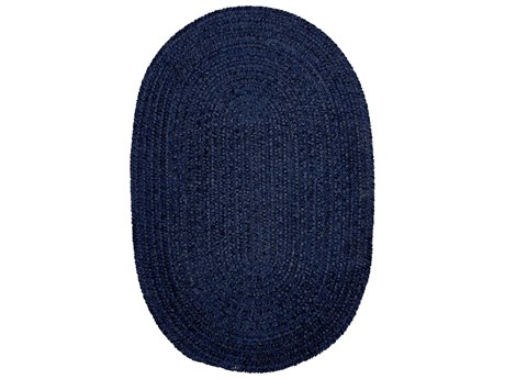Colonial Mills Barefoot Navy Oval Area Rug