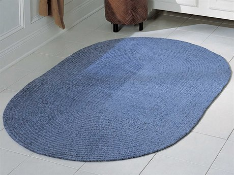 Colonial Mills Barefoot Blue Oval Area Rug
