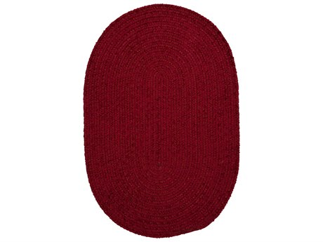Colonial Mills Barefoot Red Oval Area Rug