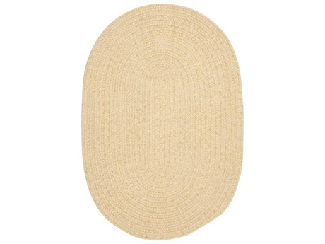 Colonial Mills Barefoot Yellow Oval Area Rug
