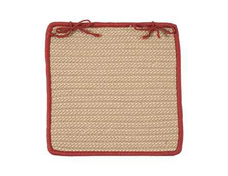 Colonial Mills Boat House Rust Red Chair Pad (Set of 4) CIBT79CPDS4