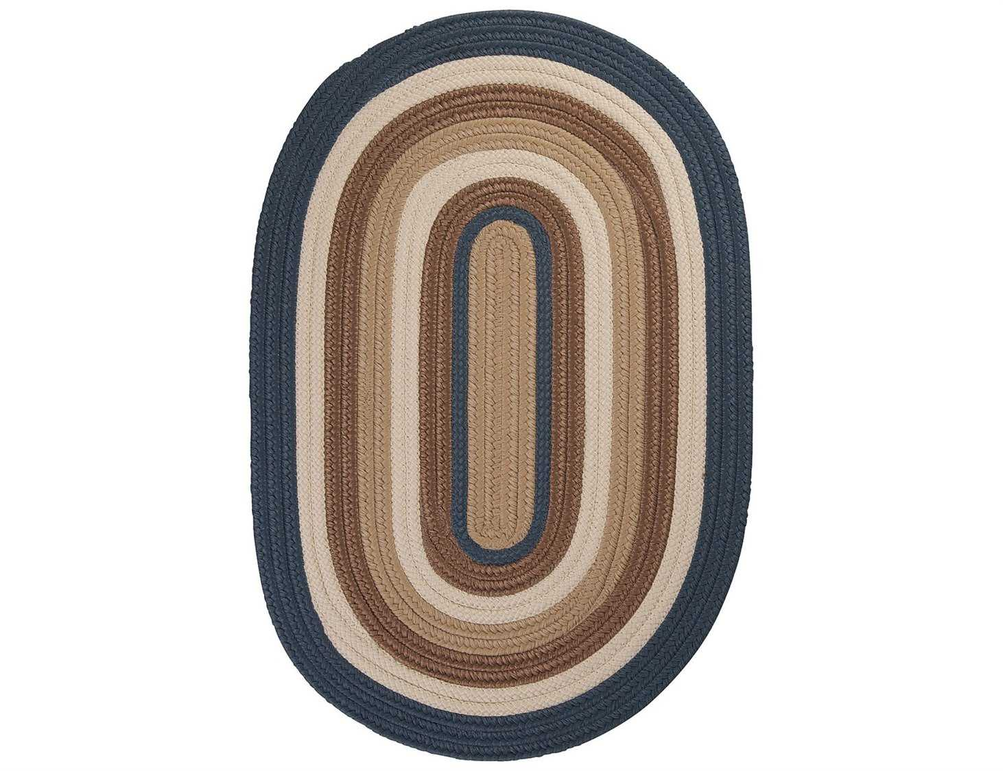 Colonial Mills Madison Braided Rug Roasted Brown.Colonial Mills Brooklyn Blue Haze Area Rug