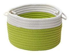 Dipped Indoor/Outdoor Bright Green Round Basket