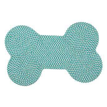 Colonial Mills Dog Bone Houndstooth Turquoise Area Rug CIOT57RG